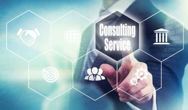 Tech screen Business Consulting Service Concept